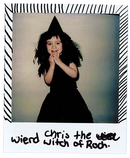 The author dressed as witch, ca. 1998. Provided by Christine Leavenworth