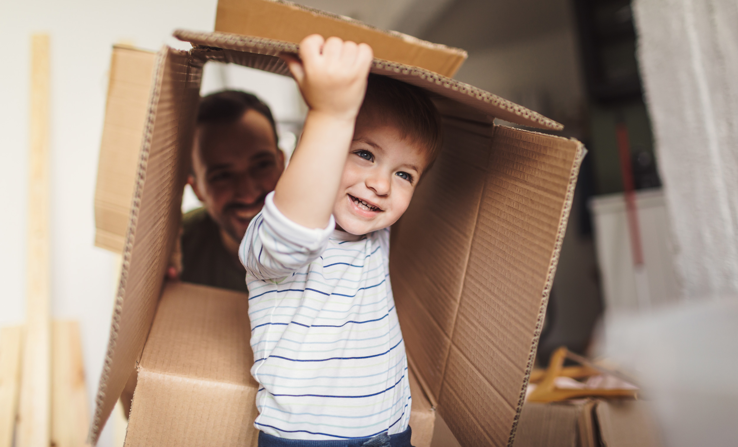 Picture of a boy in a box