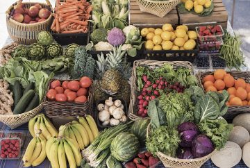 Picture of a variety of fruits and vegetables