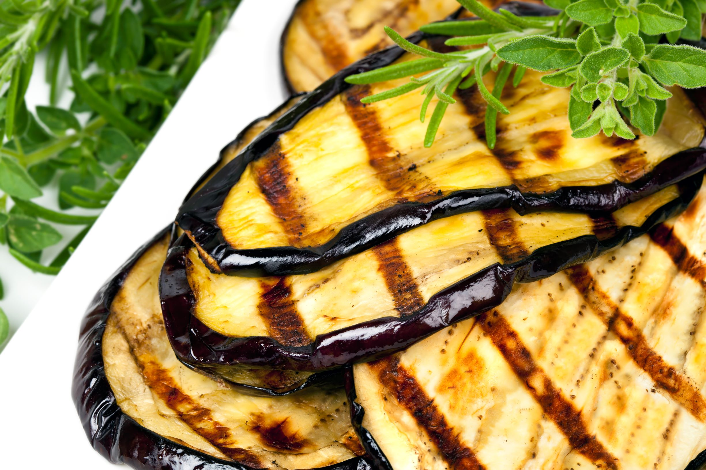 picture of grilled eggplant