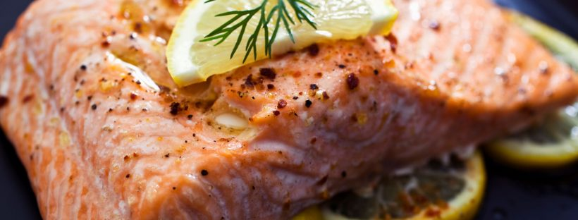 Close up picture of salmon