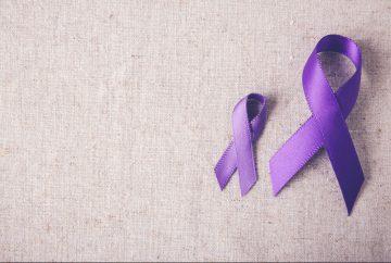 Alzheimers disease purple ribbon