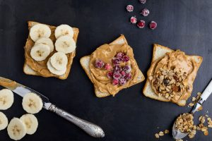 Picture of a peanut butter and fruit sandwich
