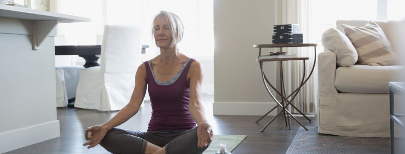 Picture of senior woman doing yoga