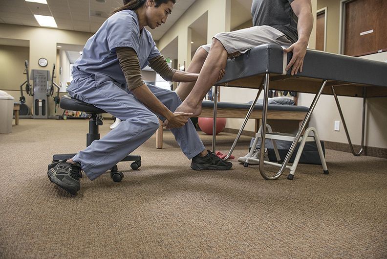 Picture of a physical therapist