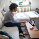 Woman using telehealth to talk to doctor